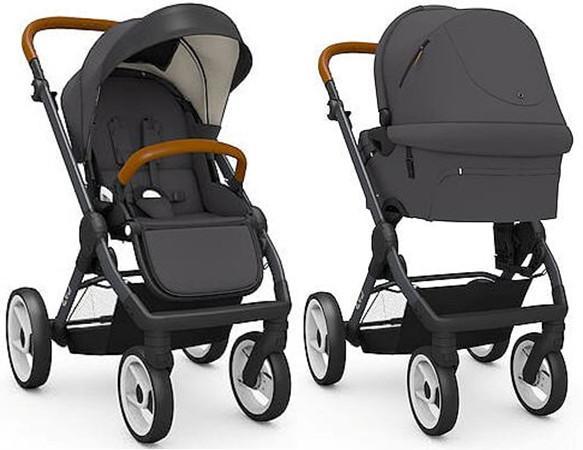 Детская универсальная коляска 2 в 1 Mutsy Evo Urban Nomad Dark Grey рама Black