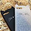 Кот с усами на iPhone 7+, черный, фото 3