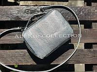 Сумка AL-SB-19 рептилия серебро + серебро кожа