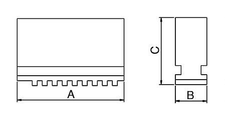 Мягкие моноблочные челюсти DSJ-DK12-160, фото 2