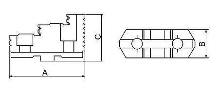 Реверсивные верхние челюсти DTJ-DK11-160, фото 2