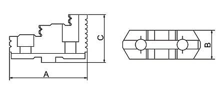 Реверсивные верхние челюсти DTJ-DK12-125, фото 2