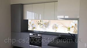 Стеклянный фартук для кухни - скинали Орхидеи