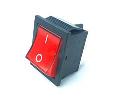 """Переключатель клавишный КП-2-220В 4 контакта, 2 положения с фиксацией """"вкл-выкл"""""""", без подсветки"""