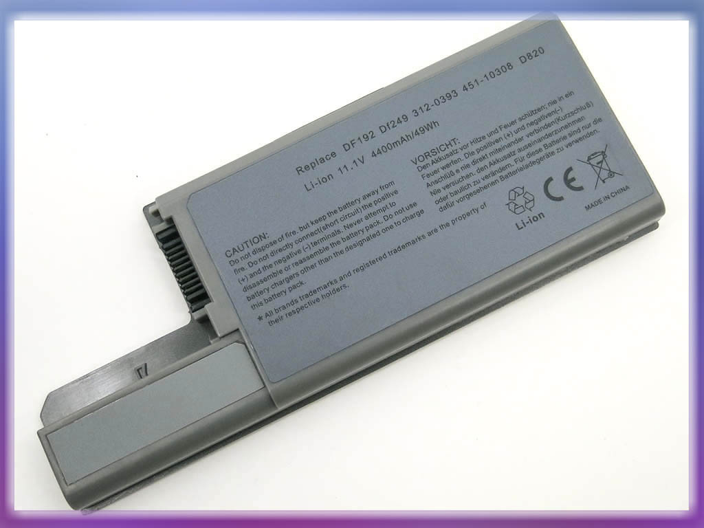 Аккумулятор Dell (CF623, WN979) Latitude D820 (11.1V 4800mAh). Gray