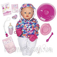 Беби Борн кукла интерактивная Зимняя Красавица 43 см Baby Born Zapf 826140