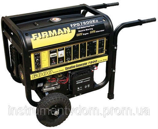 Бензогенератор FIRMAN FPG7800E2 (5,0 кВт)