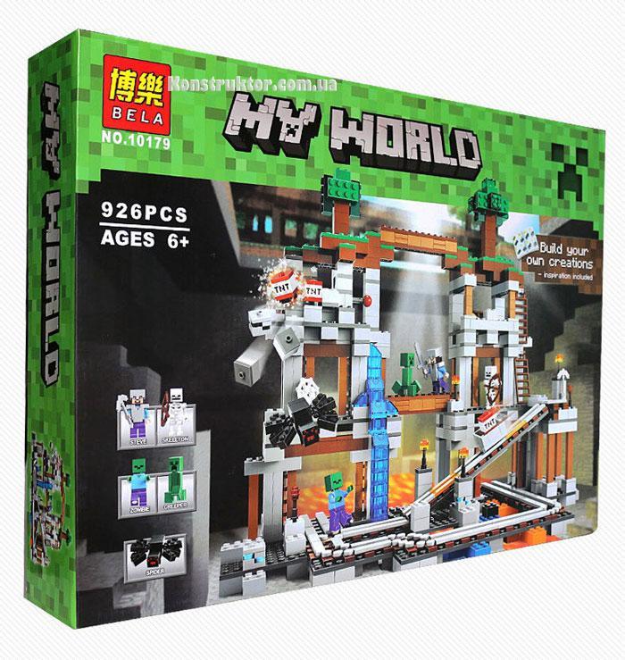 "Конструктор Майнкрафт ""Шахта"" Bela 10179 аналог Лего 21118, 926 деталей."