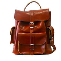 """Рюкзак GRACE 14"""" кожаный 31х35х14 см Коричневый (R14.000000350)"""