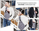 Мужская сумка через плечо Cross body (кросс-боди). Оригинал, фото 4