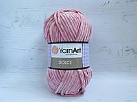 Пряжа для вязания YarnArt Dolce 769 сухая роза, плюшевая пряжа для вязания пледов и игрушек, детская пряжа