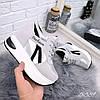 Кроссовки на платформе Lines серебро 5389