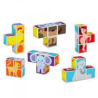 Конструктор KK1711332  магнитный, кубики 4шт, животные, в кор-ке, 24,5-19-5,5см
