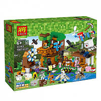 "Конструктор Lele 33163 Minecraft / Майнкрафт (аналог Lego) ""Гора персонажей"", 1007 дет"