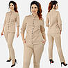 Женский классический брючный костюм больших размеров 48+   / 4 цвета  арт 6334-92, фото 3