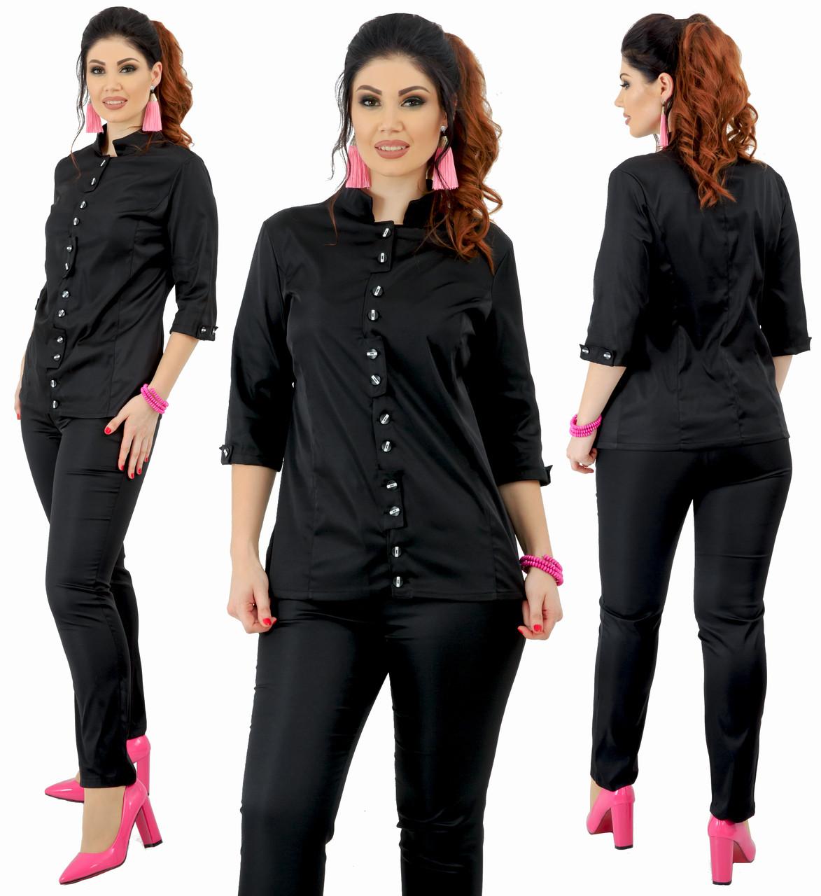 Женский классический брючный костюм больших размеров 48+   / 4 цвета  арт 6334-92