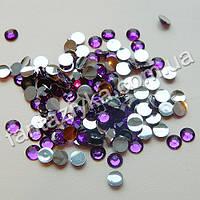 Стразы акриловые холодной фиксации, фиолетовые 5мм