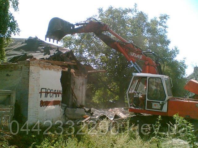 Демонтаж кирпичных домов дач - Киевская область