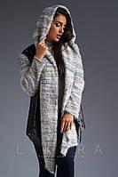 Кардиган - куртка / кожзам, трикотаж / Украина 32-724
