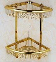 Полочка угловая в цвете золота 6-070, фото 1