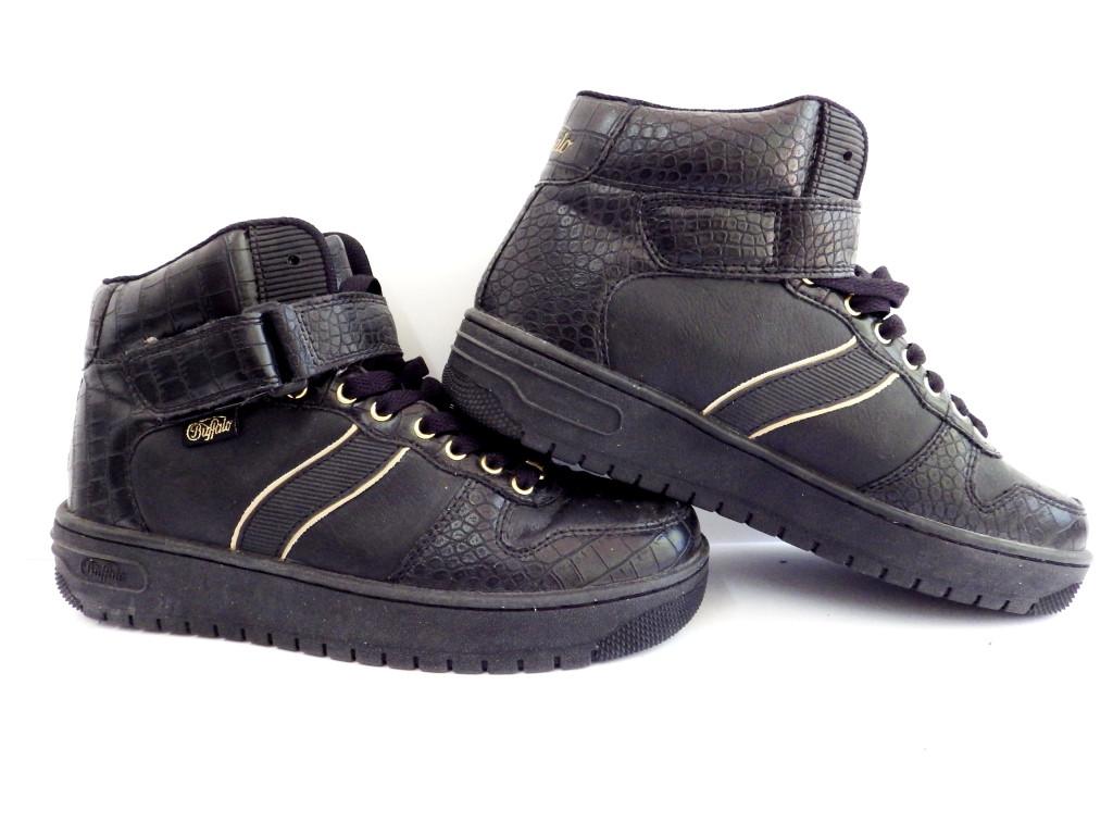 Кроссовки высокие Buffolo р-р 37 (23,5 см) (Б/У, СТОК) original чёрные