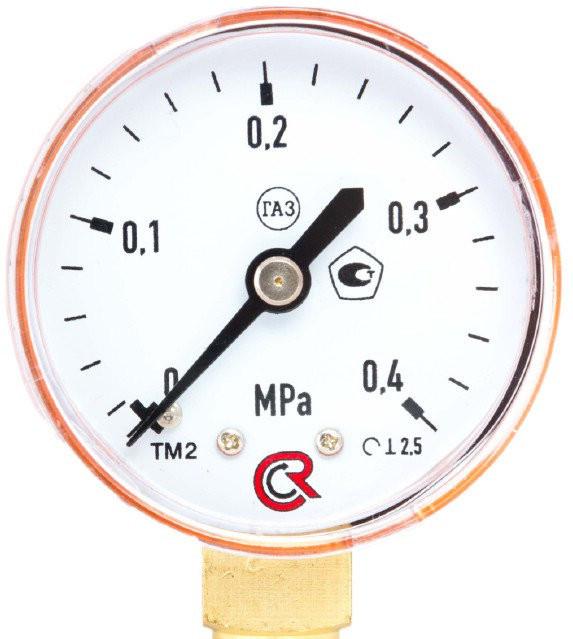Манометр пропановый 0-4МПа