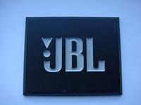 Шильдик (пластик) JBL 56x46mm на сетку колонки, фото 1