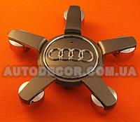 """Колпачки заглушки на литые диски AUDI (150/65/15) """"звезда"""" новая модель 4L0601165D серые"""