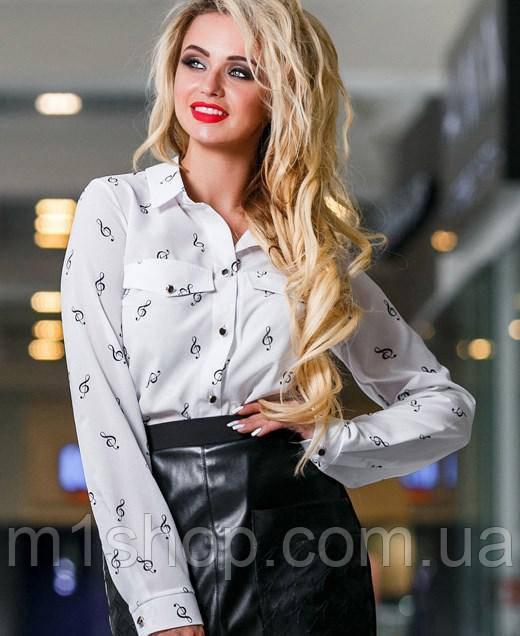 Женская блузка с карманами на груди (2299 svt)