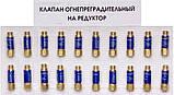Клапан огнепреградительный кислородный на редуктор (синий) Краматорск, фото 2