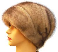 """Норковая шапка-косынка """"Стелла"""" цвет колотый лёд"""