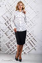 Женская блузка с карманами на груди больших размеров (2314 svt), фото 3