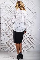 Женская блузка с карманами на груди больших размеров (2314 svt), фото 2