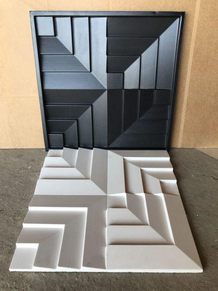 """Пластиковая форма для изготовления 3d панелей """"Концепт"""" 50*50 (форма для 3д панелей из абс пластика)"""