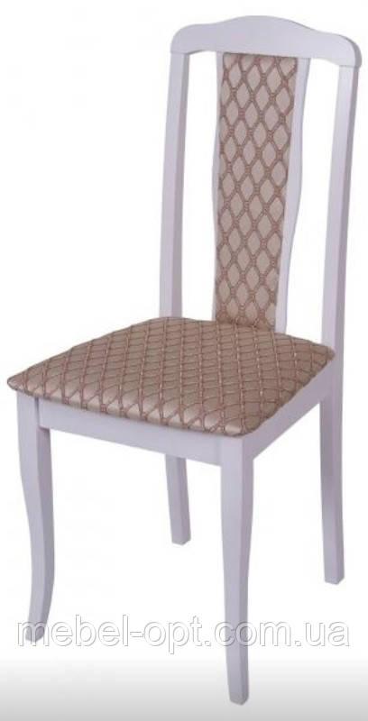 Деревянный стул С-607.9 Севилья Н мягкий, цвет белый, Заказ от 2 штук