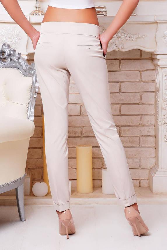 Женские классические брюки c низкой посадкой бежевые, фото 2