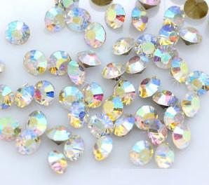 Стразы Swarovski конусные PP5 Crystal AB 100 шт (россыпь)