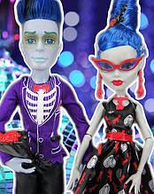 Набор кукол Monster High Гулия Йелпс и Слоу Мо (Ghoulia Yelps & Slo Mo) Любовь не умирает Школа монстров