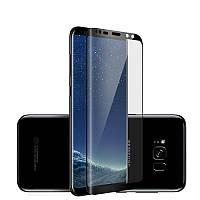 Защитное стекло для Samsung S8 3D c изгибами для экрана черный