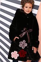 Шуба для девочки из искусственного меха мутон, фото 1