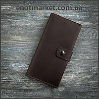 Женский кошелек коричневого цвета из натуральной кожи