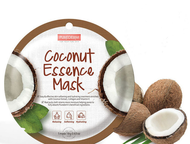 PUREDERM Collagen Circle Mask Coconut Essence