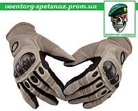 Тактические полнопалые перчатки Oakley Factory Pilot бежевые- тактические перчатки для армии и занятий спортом