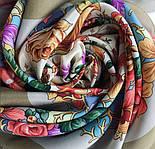 Россияночка 1740-2, павлопосадский платок (крепдешин) шелковый с подрубкой, фото 3