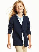 Школьный тёмно-синий кардиган с карманами на девочку Navy Old Navy (США)
