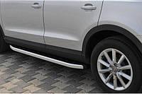 Силовые пороги Audi Q7 2 (вариант Fullmond)