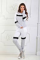 Женский спортивный костюм серый вставки, фото 1