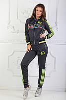 Женский спортивный костюм под Адидас яркий, фото 1