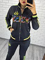 Женский спортивный костюм под Адидас полоски, фото 1