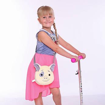 Детская сумочка Свинка Поросенок бежевая Символ 2019 года